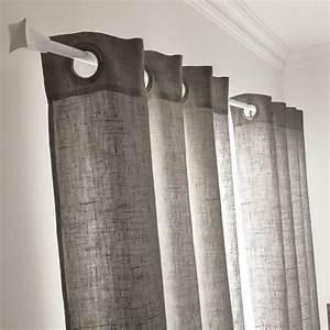 Rideau Salon Gris : un rideau gris granit pour un style tendance dans la ~ Teatrodelosmanantiales.com Idées de Décoration