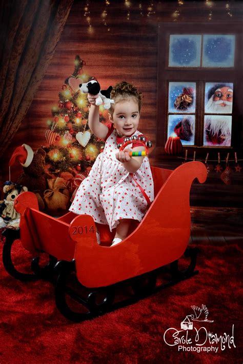 santa sleigh  wooden baby photography props