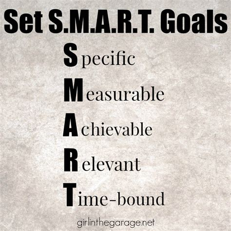 5 Tips For How To Set And Keep Goals For Your Best Year Ever  Girl In The Garage®