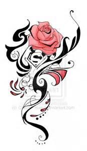 Rose Tribal Flower Tattoos