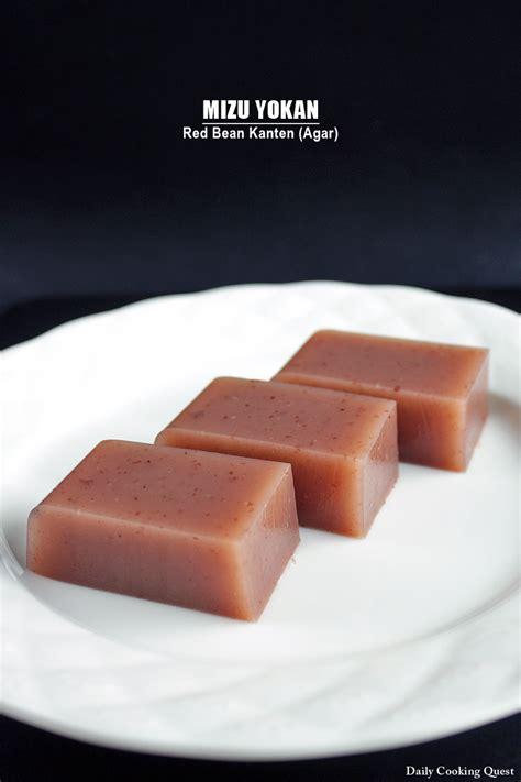agar agar cuisine mizu yokan bean kanten agar daily cooking quest