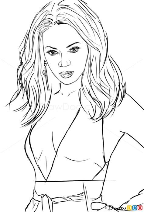 draw beyonce celebrities