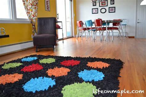 diy area rug diy fleece area rugs