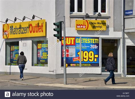 Matratzen Outlet, Unter Den Eichen, Lichterfelde, Berlin, Deutschland Stock Photo, Royalty Free