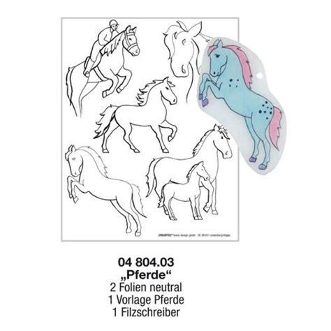 hobbywelt kreativshop schrumpffolie vorlagen set pferde