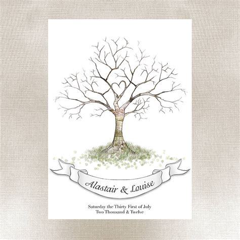 fingerprint tree wedding fingerprint tree guest book by lillypea event stationery notonthehighstreet