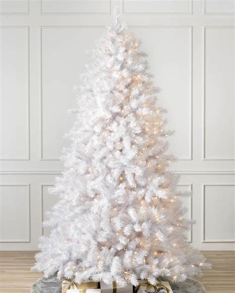 white lighted christmas trees classic white artificial christmas tree balsam hill 5528