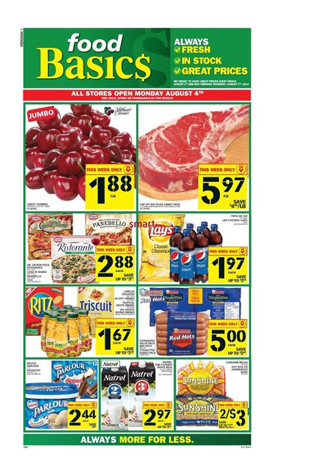 basics of cuisine food basics canada flyers