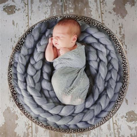 wool twist rope photo props backdrop background baby