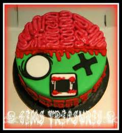 horror cakes    birthday