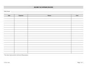 Expense Record Template by Best Photos Of Printable Expense Sheets Only Free