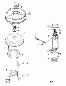 Mercury Marine 125 Hp  4 Cylinder  Flywheel  U0026 Starter Motor Parts