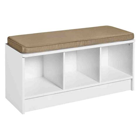 White Bench Seat With Storage  Home Furniture Design