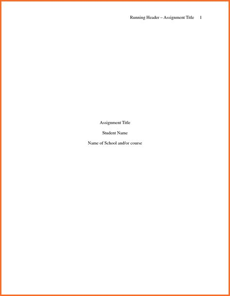 sample title apa title page template soap format