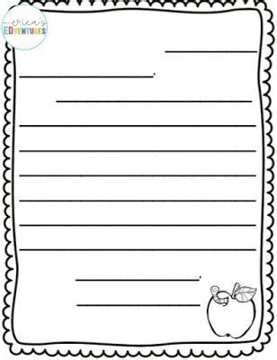 letter writing template  printables letter