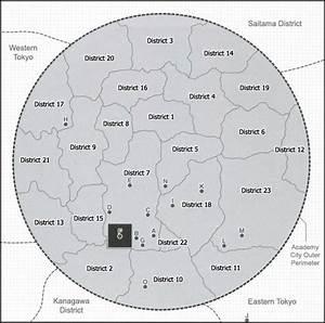 Toaru Majutsu No Index No Subete  Map Of Academy City