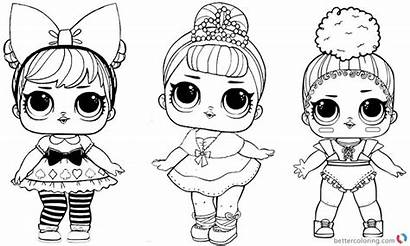 Lol Coloring Dolls Pages Three Printable Adults