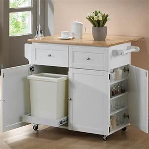 White Kitchen Island Cart (6540)