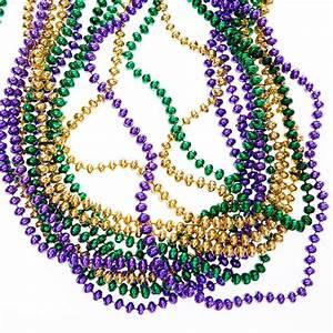 Mardi Gras Flat Beads