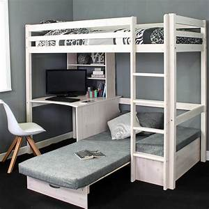 High Sleeper Loft Beds with Sofabed Futon, Sofa, Desk ...