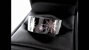 spider ring halloween ring mens tungsten wedding bands With halloween wedding rings