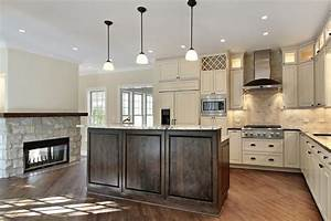 31 quotnewquot custom white kitchens with wood islands dark With kitchen colors with white cabinets with double sided stickers