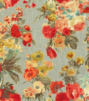 foto de HGTV Home Decor Print Fabric Garden Odyssey Fog Fabric
