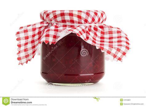 pot de confiture avec le tissu 224 carreaux photo stock image 57310801