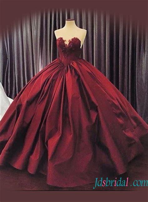 redburgundy colored wedding dressescheap  size ball