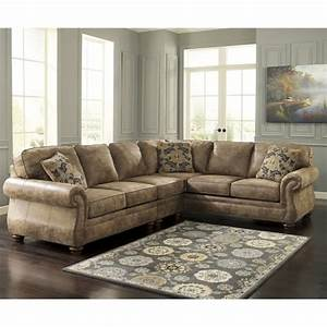 Ashley larkinhurst 3pc earth right arm facing sofa for Sectional sofa dallas tx