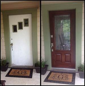 Front Door Makeover Before After Decorating Ideas