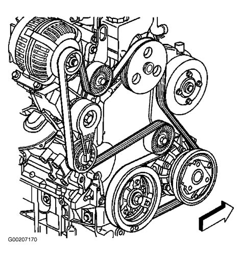 Chevrolet Tracker Serpentine Belt Routing Timing