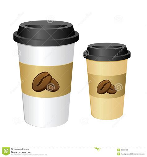 Tall Coffee Cup Stock Vector Image Of Caffeine, Breakfast