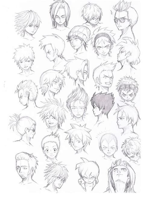 cool anime guy hairstyles google search manga