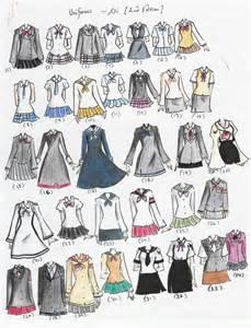 Anime School Uniform Drawing
