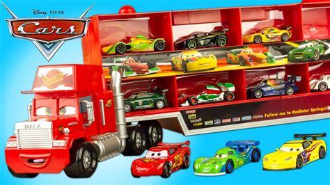 Camion Mack Cars Disney Cars Mack Truck Hauler Camion Transporteur Disney Store 10 Voitures Flash Mcqueen Jouet