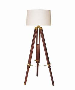 Surveyor tripod floor lamp high street market for Surveyors floor lamp wood