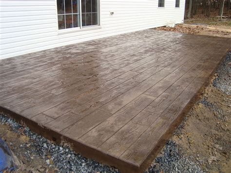 concrete stamped stone patio stamped concrete galleries