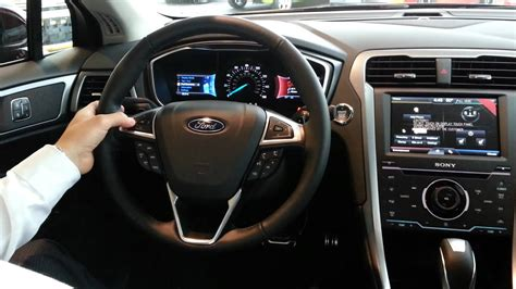 ford fusion interior technology youtube