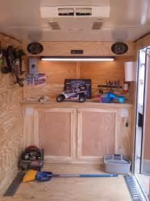 Camper Interior Decorating Ideas by V Nose Enclosed Trailer Cabinets Kit4en Com