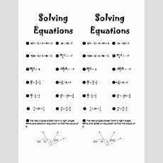 Solving Multistep Equations Practice Worksheet By Lisa