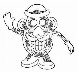 Dia De Los Muertos Skull Coloring Pages | Printable ...