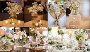 Centre De Table Champetre : d coration de table de mariage envoi gratuit deco de ~ Melissatoandfro.com Idées de Décoration