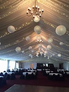 Drape, Rows, Of, Fairy, Lights, Using, The, Poles, Of, The, Marquee, And, Suspend, Our, White, Even, Ribbe