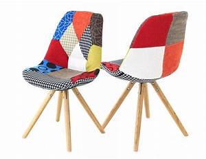 Chaise En Tissu : chaise en tissu patchwork lot de 2 ~ Teatrodelosmanantiales.com Idées de Décoration