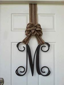 wooden letters home decor monogram door hanger monogram With wooden door letters