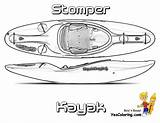 Coloring Boat Kayak Stomper Pages Yescoloring Fishing Rugged Boats Ship sketch template