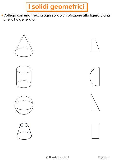 solidi geometrici esercizi  la scuola primaria