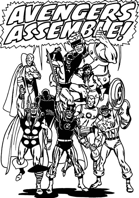 avengers assemble coloring page wecoloringpage