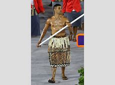 Tonga's Shirtless Olympic Flagbearer Steals the Show With